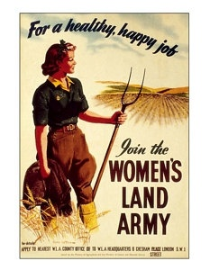 Vintage reproduced womans land army digital art print  wall hanging decoration memorabelia. £4.75, via Etsy.The Women, Women Land Army, Vintage, Land Girls, 1940S, Woman, Victory Gardens, Wwii Posters, Landgirls