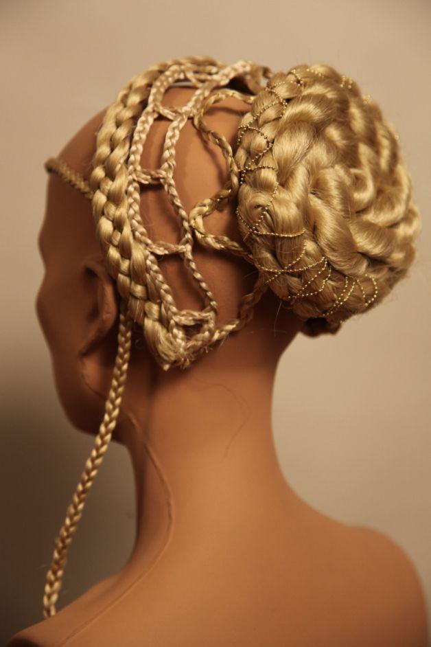 Hair & Head Accessories – Renaissance Gothic Mittelalter Frisur Haarteil... – a unique product by Zopfkronenliesl on DaWanda