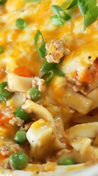 Turkey Noodle Casserole Recipe ~ Hot, bubbly, and real cheesy... This dish had everything one needs in a comforting casserole.