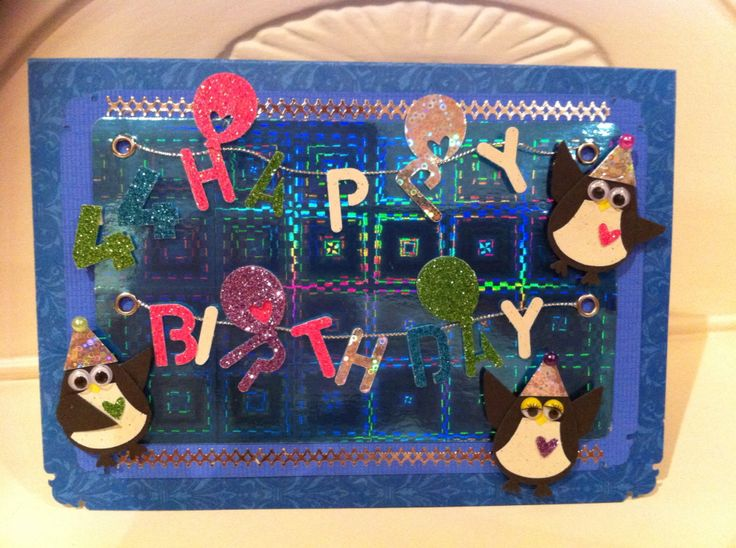 Party penguins - really pleased with these from stampin up owl punch ( the most versatile punch you can ever buy !)
