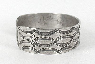 Vintage Sterling Silver Ingot Bracelet 6 7/8 inch