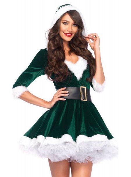 Leg Avenue 85356 Cutie Elf Christmas Costume With Hooded