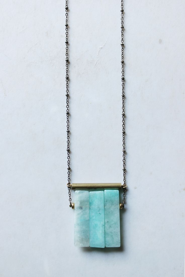 Amazonite necklace gold Amazonite pendant long statement necklace brass tube geometric necklace mint blue gemstone modern minimalist jewelry by xuanqirabbit on etsy long modern minimalist boho jewelry minimal necklace,bohemian jewelry minimalist jewelry. boho necklace,bohemian jewelry,simple jewelry,simple necklace,minimal fashion,minimalist fashion.marble jewelry.marble necklace,modern jewelry,urban jewelry,boho fashion,bohemian fashion,contemporary jewelry,architectural jewelry
