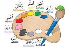 Färger på arabiska, posters, arbetsblad, flashcards, filefolders och power point presentation