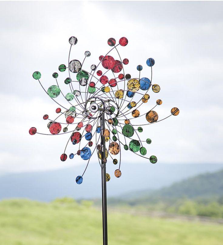 Confetti Kinetic Wind Spinner. Wind SculpturesGarden ...