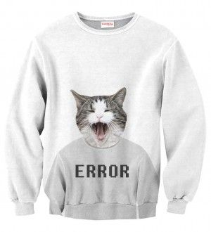 ERROR Bluza Bez Kaptura Full Print