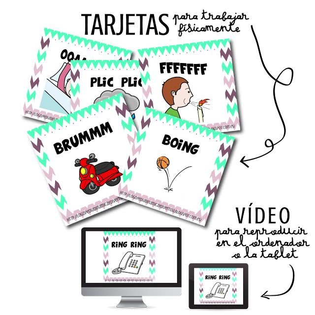 Logopedia dinámica y divertida : TARJETAS & VÍDEO DE ONOMATOPEYAS