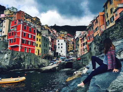 #Riomaggiore Parco Nazionale delle Cinque Terre, Cinque Terre, Italy, #Tourism #Facade #Waterway Sky Deutschland, Map - Follow #extremegentleman for more pics like this!