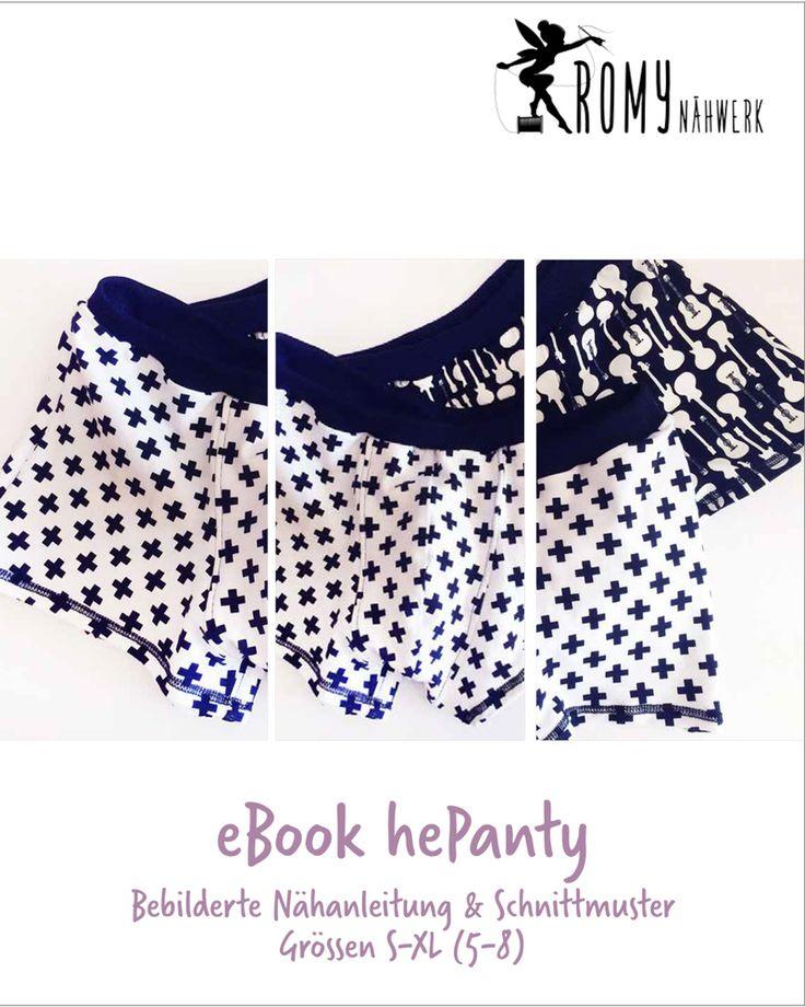 eBook hePanty - Retro-Pants für Herren, Der Schnitt für hePanty umfasst die Größe S – XL (Hüftumfang bis 112 cm). Die leicht verständliche, bebilderte Nähanleitung ist auch für Anfänger absolut nähbar.