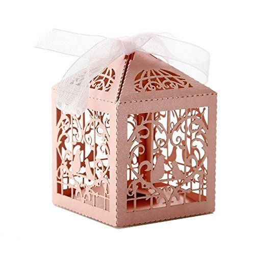 Wedding Gift Boxes Amazon : Cut Pair Love Birds Wedding Party Favor Box Candy Boxes Chocolate Gift ...