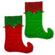 Bulk Christmas House Elf Stockings with Bells, 18 in. at DollarTree.com