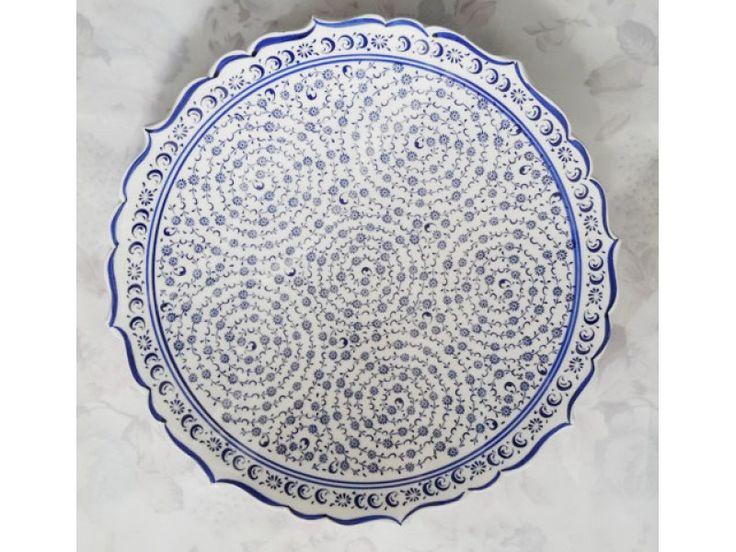 25cm Tabak : 25 cm Samur Çini Tabak