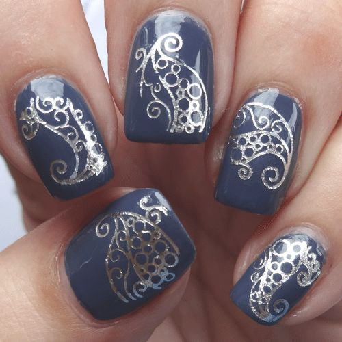 41 best nail art water decals images on pinterest bling nails silver swirl nail art decals really easy to apply yet stunning when on your nails prinsesfo Choice Image