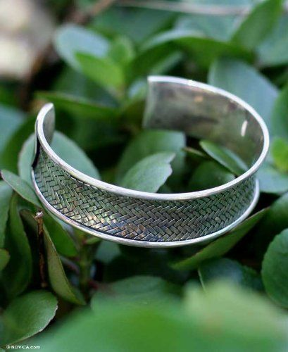 Sterling silver cuff bracelet, 'Ultimate Achievement' NOVICA. $87.95. Handmade by Ploy Intha.. Normally ships directly from Thailand within 10 days.. A fair trade product. Save 55%!