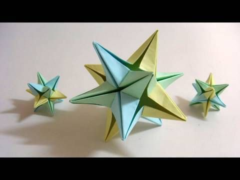 Origami Omega Star (6 modules) - Use in your Christmas decoration!    This is actually really simple. The modules are really easy and the assembly is straightforward. I made 4 of these. They really would look good as Christmas decorations too.