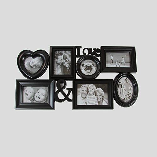 Felices Pascuas Collection 26.5 inch Black Multi-Sized inch Love & inch Photo Picture Frame Collage Wall Decoration
