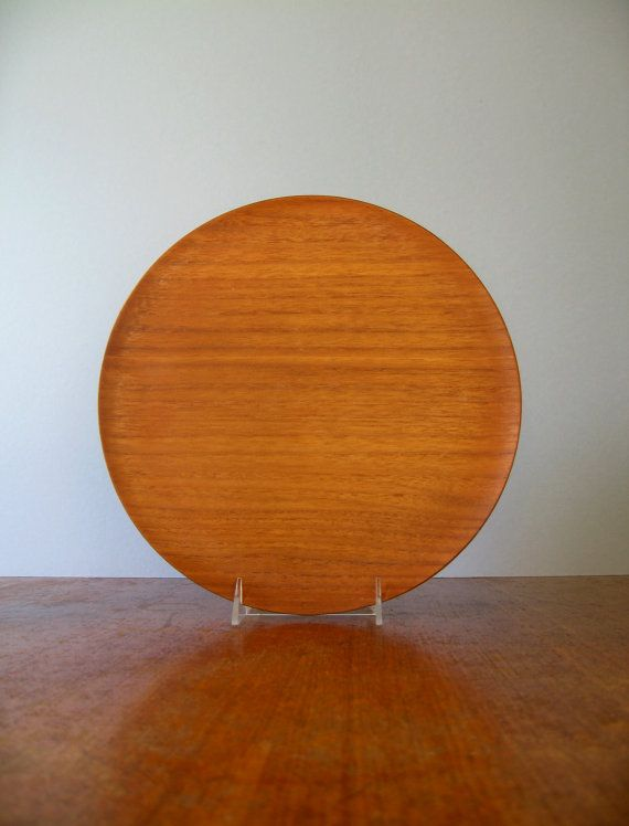 Japanese Modern Molded Teak Plywood Tray  National Craft by luola, $29.00