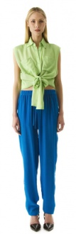 SHE DANCES is a mid rise full length relaxed pant with drawstring waist and side