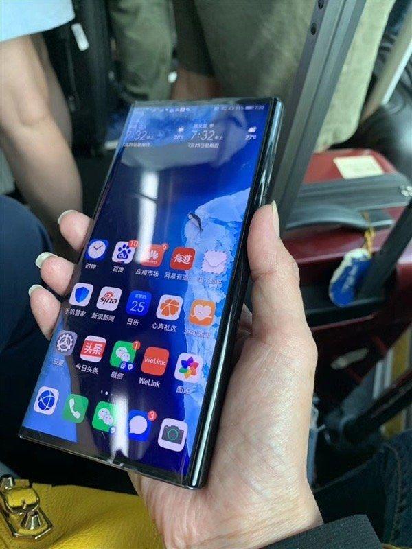 New Huawei Mate X Foldable Phone Shown Off By Huawei Ceo Richard Yu Samsung Galaxy Phone Samsung