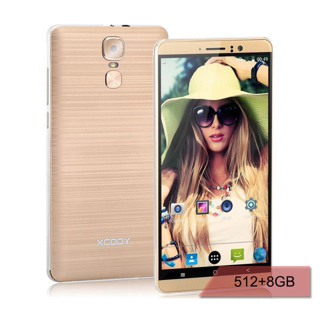 XGODY Y14 Smartphone 6 Inch 3G Dual SIM Unlocked Mobile Phone Android 5.1 Quad Core 1GB + 8GB 5.0MP Camera GPS WiFi Cell Phone