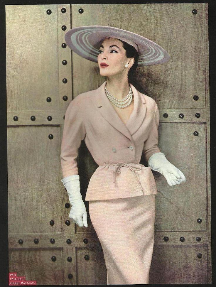 Tailleur Balmain 1954