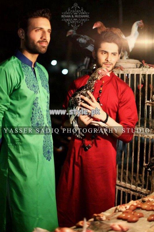 Rehan and Muzammil Kurta Shalwar 2013 For Eid