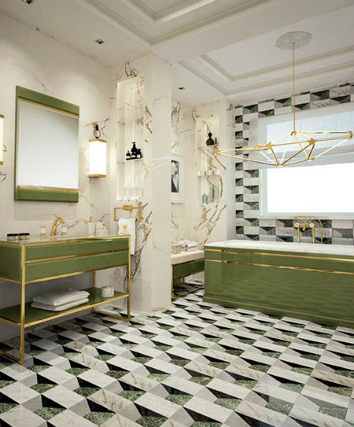 Beautiful Bathrooms 2017: Decorate Your Bathroom With Greenery Pantone Of The Year