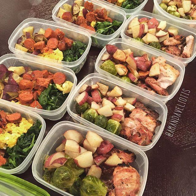 Prep Idea: Chorizo Breakfast and Organic Chicken lunch                                                                                                                                                      More