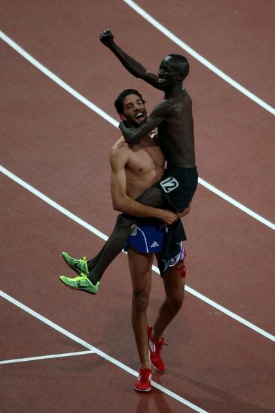 Ezekiel Kemboi and Mahiedine Mekhissi-benabbad Photo - Olympics Day 9 - Athletics