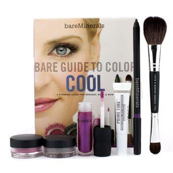 Bare Escentuals Bare Guide To Color - # Холодный (Праймер для Теней + Тени для Век + Подводка для Глаз + Румяна + Блеск для Губ + Кисточка) - Макияж - StrawberryNET.com