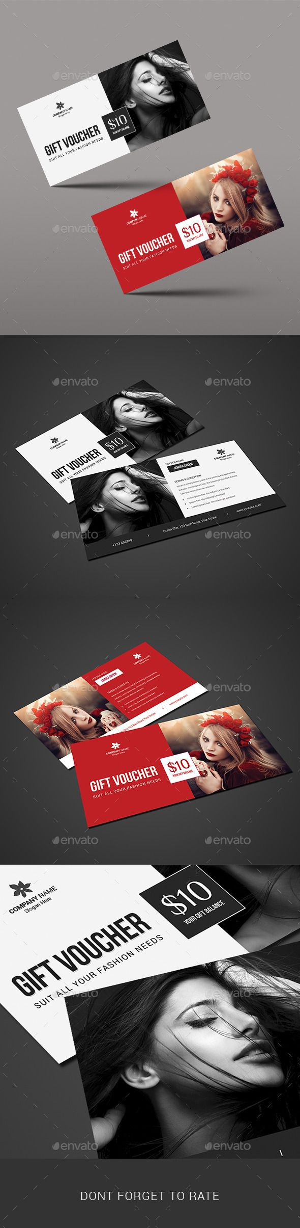 Beauty Fashion Gift Voucher Template #design Download: http://graphicriver.net/item/beauty-fashion-gift-voucher/11315751?ref=ksioks