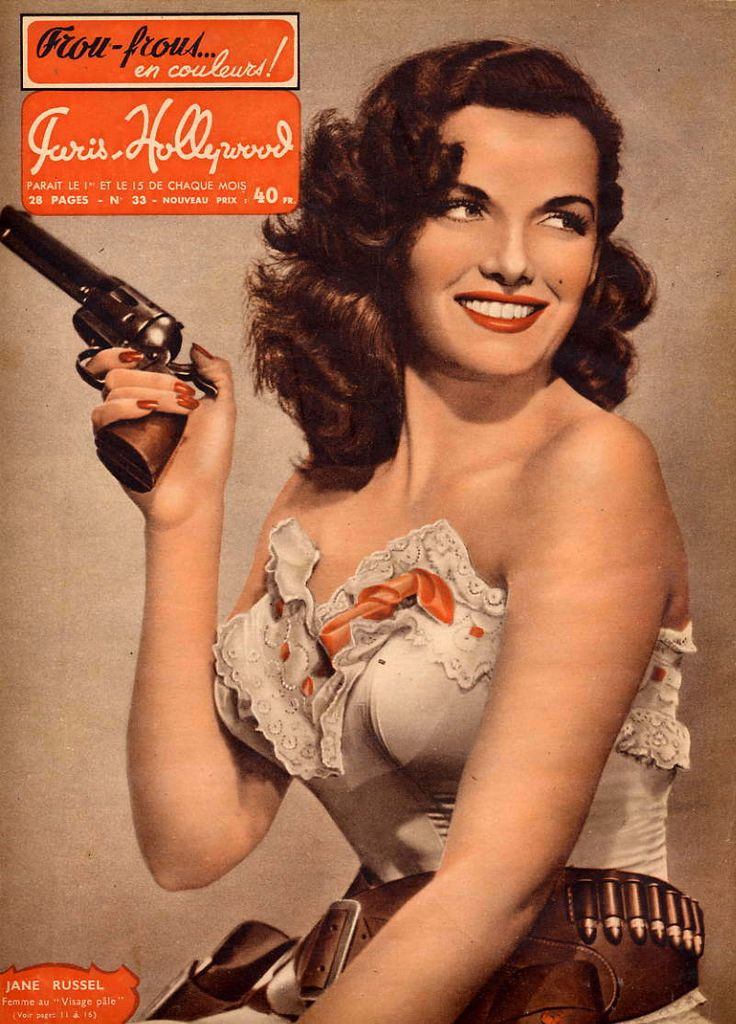 @Kristyne Hoy if I can ever find an outfit like this, we are so re-creating it! FYI ha haVintage Woman, Bangs Bangs, Jane Russell, Big Guns, Pinup, Vintage Ads, Vintage Girls, Cowgirls Fashion, Pin Up Girls