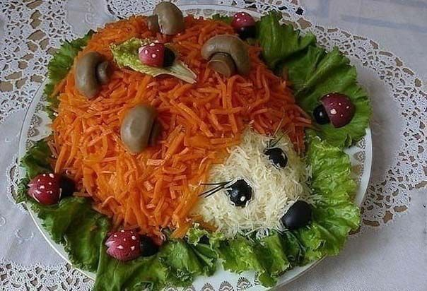 Children's SALAD «Hedgehog»