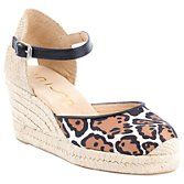 Unisa Caceres Two Part Wedge Heel Court Shoes, Leopard at John Lewis