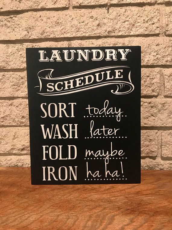 Laundry Schedule Sign Funny Laundry Sign Laundry Room Etsy