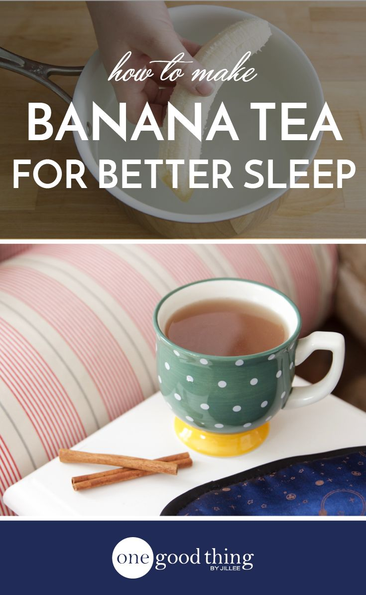 Learn how to make a simple and natural banana tea that can help you fall asleep and stay asleep. Great for both insomnia and occasional sleeplessness.