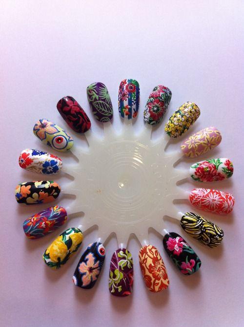 Amazing nail wheel!: Floral Patterns, Floral Prints, Tropical Flower, Floral Nails Art, 2011 Catwalks, Hibiscus Flower, Nail Design, Nails Art Design, Cute Nails Design