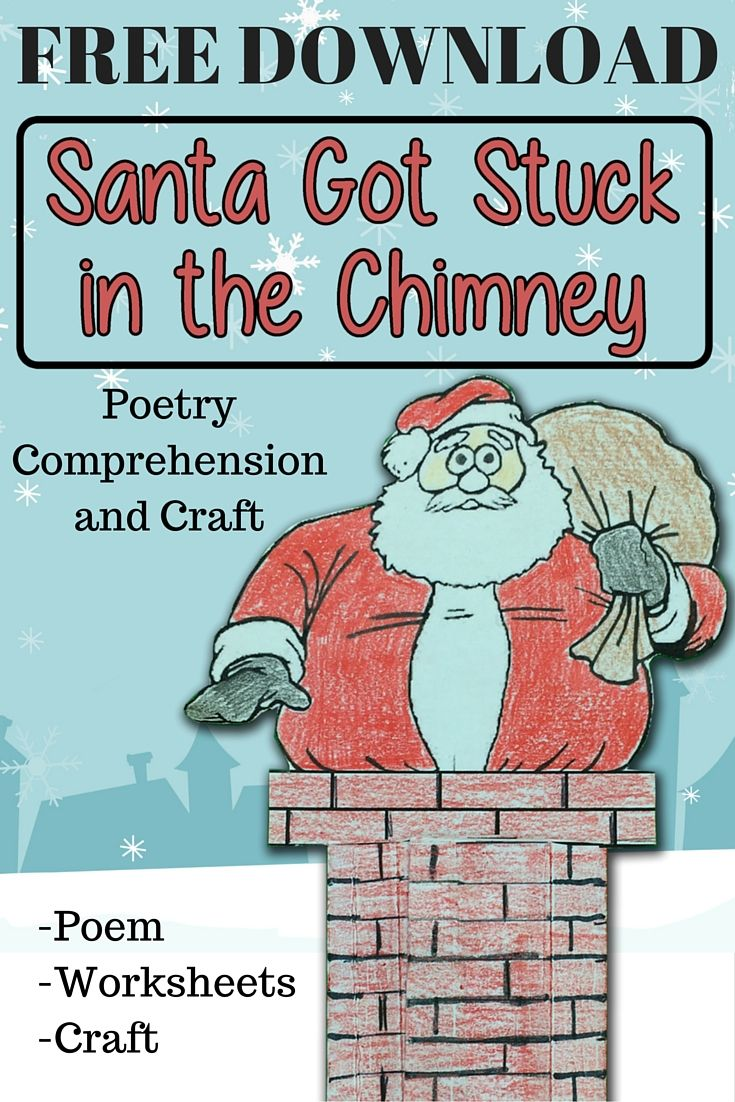 Santa got stuck in the chimney writing activity for 5th