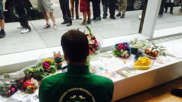 Satoru Iwata Memorial At The Nintendo World Store In NYC