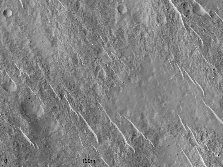 """Using an image stacking and matching technique called Super-Resolution Restoration (SRR) UCL scientists have developed a technique to achieve 5cm resolution (the """"equivalent of drone-eye vision"""") by processing stacks of 25cm resolution images taken from HiRISE in Mars orbit."""