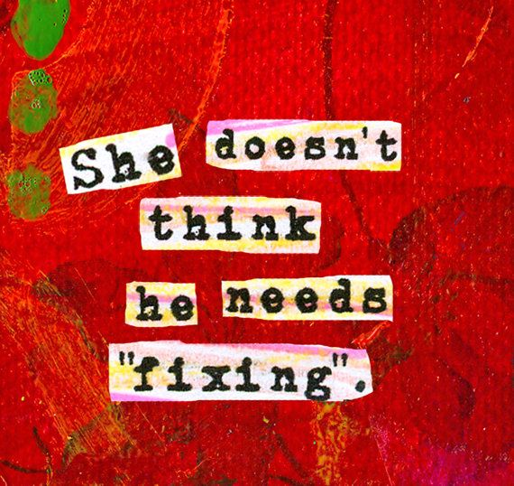 """Autism Awareness Quote. """"She Doesn't Think He Needs Fixing."""" ART MAGNET for Moms. Nursery wall art. Autism Art. LadyBird."""