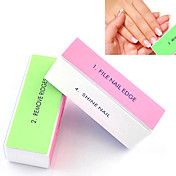 1шт 4-х ногтей полировки блок шлифования файлы / удалить хребты / гладкая ногтей / блеск для ногтей