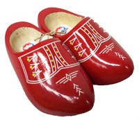 Dutch wooden shoes, or klompen. We put candy in these at Christmas time.