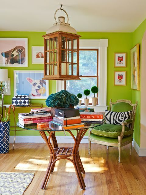 "This is the cheery shade of green you'll see in home decor, fashion and commercial design in 2017. Named the 2017 Pantone Color Of The Year, ""Greenery"" is meant to represent refreshment and revitalization — something we all could use in a complex social and political environment, according to Pantone."