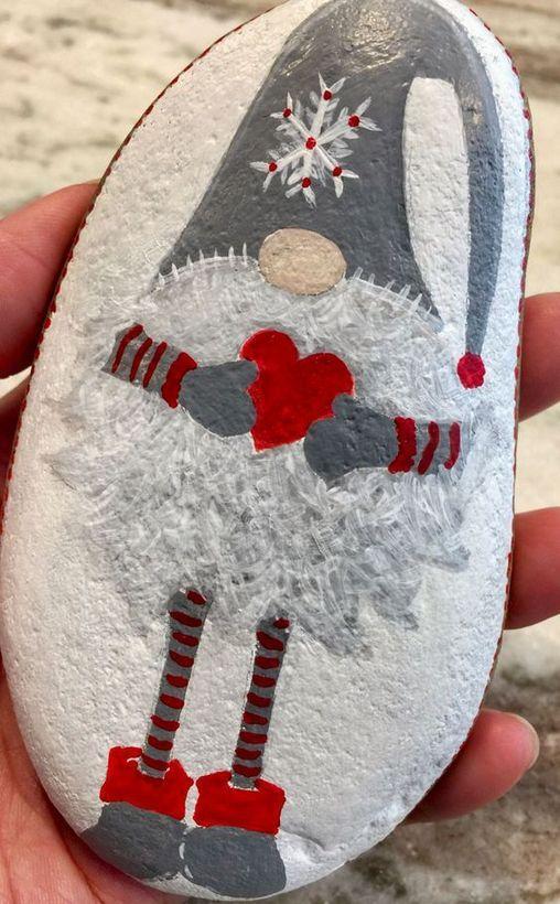 33 + Einfache DIY Weihnachten Painted Rock Design-Ideen