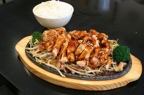 Teriyaki Chicken with Grilled Pineapple, Stir-Fried Noodles & Chinese ...