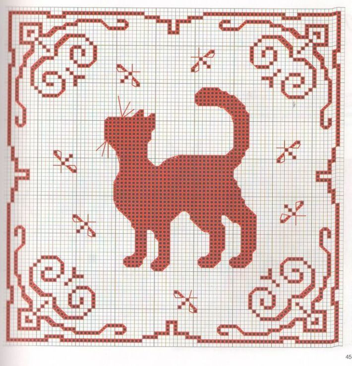 187 Best Cat Images On Pinterest Cross Stitches Cat Crochet And