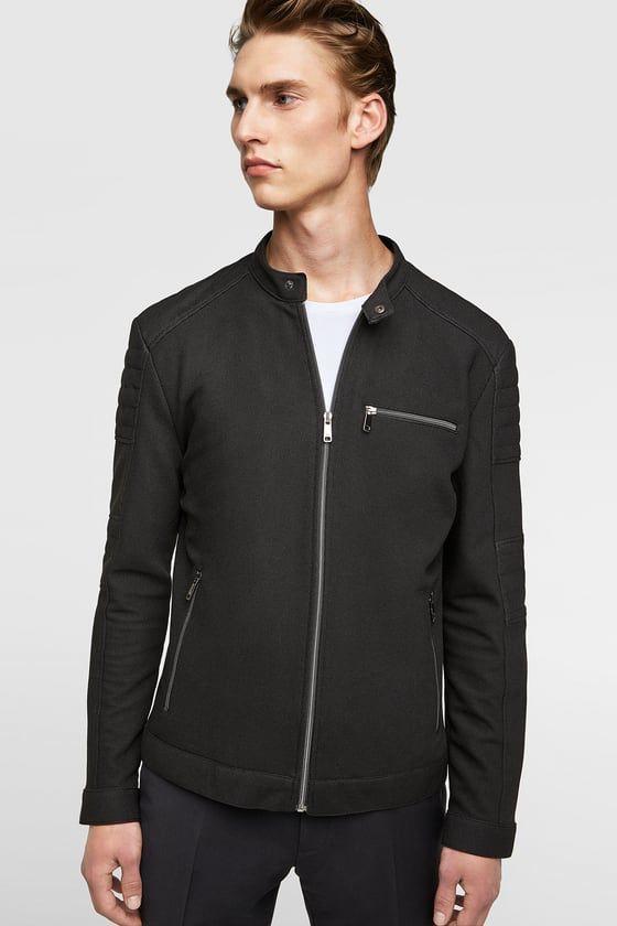 ba81cbf6 PIQUÉ BIKER JACKET - Item available in more colors | Zara Men Jacket ...