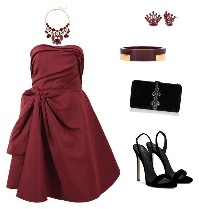 """red dress"" by nanaristha on Polyvore featuring INC International Concepts, Oscar de la Renta, Giuseppe Zanotti, Dsquared2, Betsey Johnson and Marni"