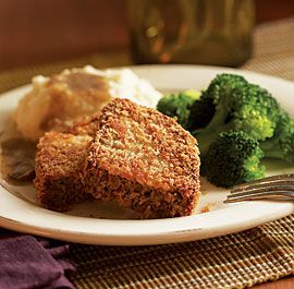 """Fried Meatloaf -- kinda screams """"heart attack"""" but looks oh, so good!"""
